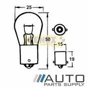 BA15S 12V 21W Bayonet Bulbs (Box of 10)