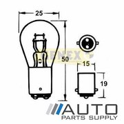 BAY15D 24V 24/6W Bayonet Bulbs (Box of 10)