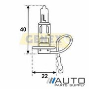 H3 12V 100W Halogen Bulb (Single)