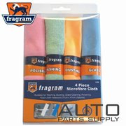 4 Piece Micro Fibre Cleaning Cloth Set *Fragram Brand*