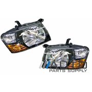 Mitsubishi NM Pajero Headlights Head Light Lamp Set 2000-2002 Models