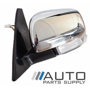 Mitsubishi NX Pajero LH Chrome Electric Door Mirror w/ Flasher 2014 Onwards