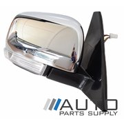Mitsubishi NX Pajero RH Chrome Electric Door Mirror w/ Flasher 2014 Onwards