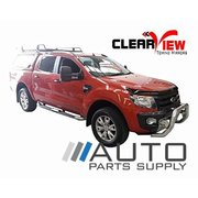 Ford PX Ranger Towing Mirrors Chrome W/ Indicators & Heated Glass 2012-Current *Clearview Brand*
