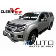 Isuzu D-Max Manual Towing Mirrors Black 2012-On *Clearview*