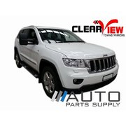 Jeep WK Grand Cherokee Electric Towing Mirrors Chrome 2011-On *Clearview*