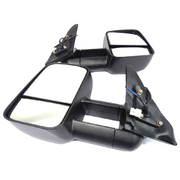 Mitsubishi Pajero Electric Towing Mirrors Black 2006-Current *Clearview*