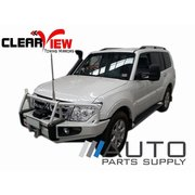 Mitsubishi Pajero Electric Towing Mirrors Chrome 2006-Current *Clearview*