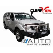 Nissan D40 Navara Manual Towing Mirrors Chrome 2005-2015 *Clearview*