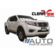 Nissan NP300 Navara Electric Towing Mirrors Black W/ Heated Glass 2015-On *Clearview*