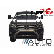 Toyota Hilux Electric Towing Mirrors Black W/ Indicators 2015-On *Clearview*