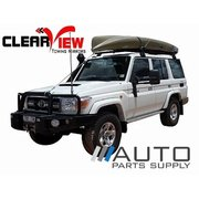Toyota 70 series Landcruiser Manual Towing Mirrors Black 1984-Current *Clearview*