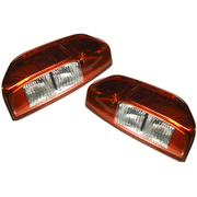 Nissan Navara LH + RH Tail Lights Lamps suit D40 2005 onwards models *New Pair*