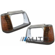 Ford Courier LH + RH Headlight Surrounds & Indicator Lights suit PC 1985-1996 *New*