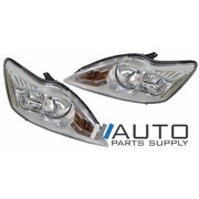 Ford LV Focus Headlights Head Lights Lamps 2009-2011 Chrome *New Pair*