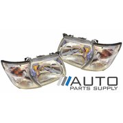 Nissan Patrol GU Series 2 Wagon 01-04 Pair of Head & Corner Lights New ADR