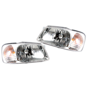 Hyundai Accent LH + RH Pair Headlights 2000-2002 *Genuine*