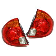 Hyundai LC Accent Tail Lights Lamps Set suit 3dr/5dr Hatch 2003-2006 *New*