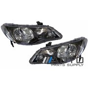 Honda Civic Headlights Head Lights Lamp Set FD series 2 2009-2012 Sedan/Hybrid