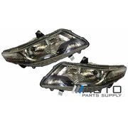 Honda City LH + RH Headlights Head Lights Lamps suit GM 2009-2012