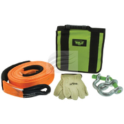 Hulk 4x4 Basic Off Road Recovery Kit Snatch Strap Shackles Gloves