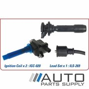 Kia Spectra Ignition Coil & Lead Set 1.8ltr TE FB 2001-2004 *Genuine OEM*