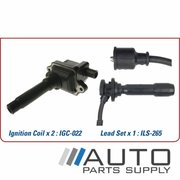 Kia Sportage Ignition Coil & Lead Set 2.0ltr FE JA 1996-1999 *Genuine OEM*