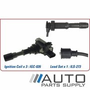 Kia Sorento Ignition Coil & Lead Set 3.5ltr G6CU BL 2003-2008 *Genuine OEM*