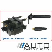 Subaru Liberty Ignition Coil & Lead Set 2.0ltr EJ201 BE 1999-2003 *Genuine OEM*