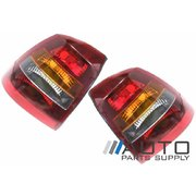 Holden Astra Tail Lights Suit Hatchback TS 1998-2006 Tinted Type *New Pair*