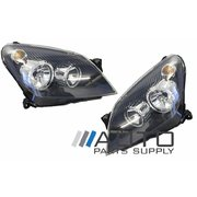 Holden AH Astra Headlights Head Lights Lamps Black Type 2004-2009 *New Pair*