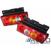 Universal Tail Lights Tray Back Ute or Truck Taillights lamps *New Pair*