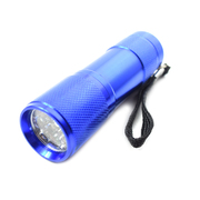 9 LED Mini Super Bright Torch / Flashlight Blue *Lion Products*