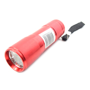 9 LED Mini Super Bright Torch / Flashlight Red *Lion Products*