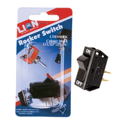 12v 15 Amp Black Rocker Switch *Lion Products*
