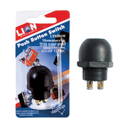 12v 25 Amp Black Momentary On Push Button Switch *Lion Products*