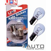2 Piece Bayonet 12v 21/5w Stop/Tail Bulbs / Globes *Lion Products*