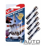5 Piece 10 Amp Glass Fuse Pack *Lion Products*