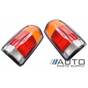 Ford PC Courier LH + RH Tail Lights (Black Surround) 1985-1996 *New Pair*