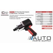 "3/4"" Drive Heavy Duty Composite Air Impact Wrench - Twin Hammer *SIP Industrial*"
