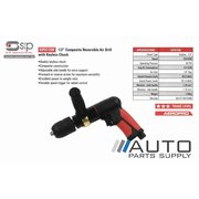 "1/2"" Composite Reversible Air Drill with Keyless Chuck *SIP Industrial*"