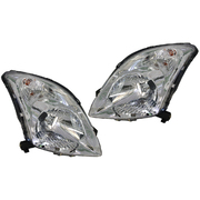 Suzuki Swift LH + RH Headlights Head Lights Lamps Chrome EZ 2004-2011 *Pair*