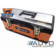 "19"" Steel & Durable Plastic Tool Box with Stainless Steel Top *Fragram Brand*"