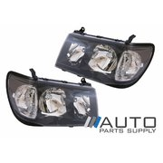 Toyota 100 or 105 series Landcruiser Black Altezza Headlights 1998-2005 *New*