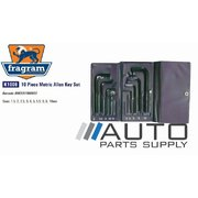 10 Piece Metric Allen Key Set 1.5mm-10mm *Fragram Brand*