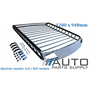 1200x940mm Car / 4wd Roof Rack Storage Basket Tubular Steel Design