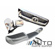 2008-2011 Toyota Hilux Chrome Upgrade Kit Mirrors Grille Rear Step Bar *New*