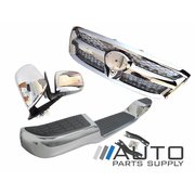 2005-2008 Toyota Hilux Chrome Upgrade Kit Mirrors Grille Rear Step Bar *New*