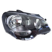 Volkswagen VW Polo Mk4 GTi RH Black Headlight 2005-2010 Models