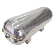 9ltr Stainless Steel Air Tank 5 Port 0-200psi 450x220x180mm